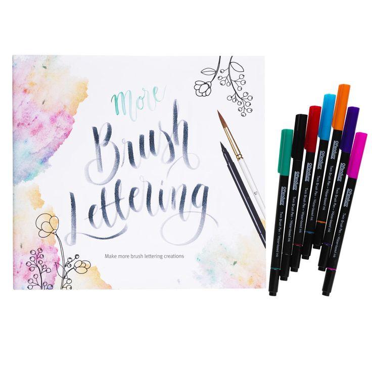 Brush Lettering bok 2 + pennor
