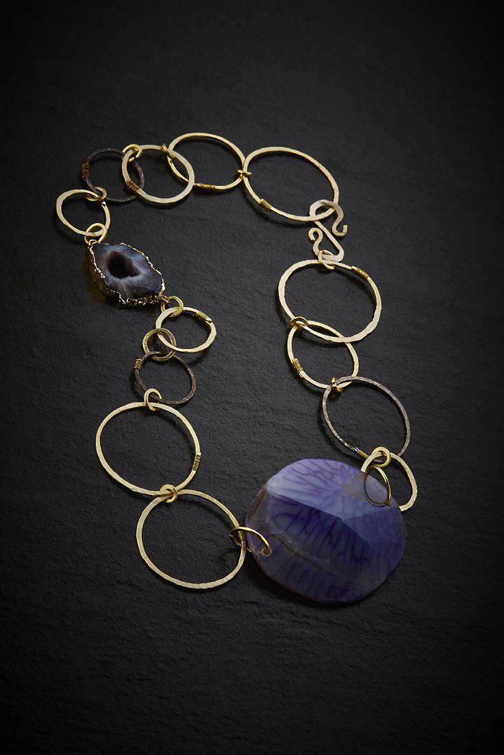 Violet agate