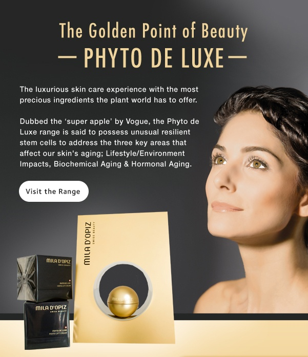 Mila d'Opiz Australia - Phyto de Luxe. the luxurious skin care experience with the most precious ingredients the plant world has to offer.