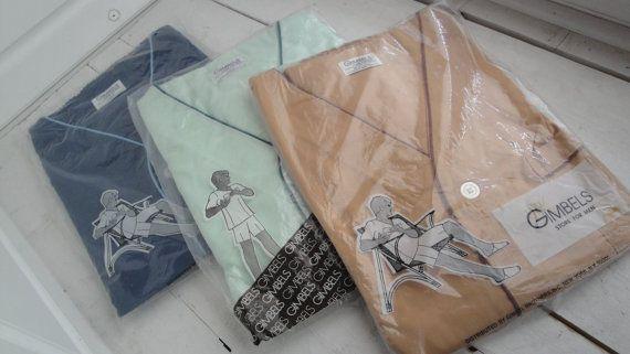 164.84 kr. Vintage 1960s Men's Pajamas Button Down Shorts Large by CraftySara