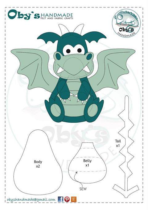Felt Dragon Pattern (not in English)