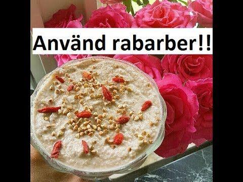 Hemgjord raw vegansk yoghurt recept m. rabarber!!! - YouTube