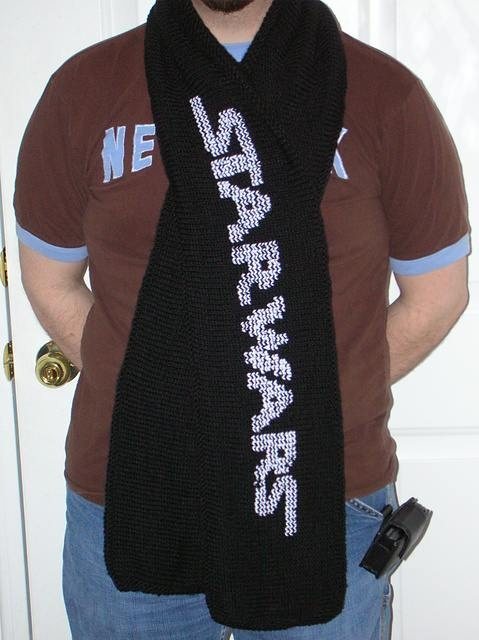 Knitting Pattern For Star Wars Scarf : Knit star wars scarf Needle Work Pinterest