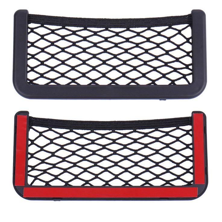 1 pcs Penyimpanan Mobil Kembali Belakang Batang Kursi Elastis String Net Mesh kedua Sisi Tas Tetap Hangat Saku Kandang 15 cm * 8 cm 20 cm * 8 cm Nylon Kain