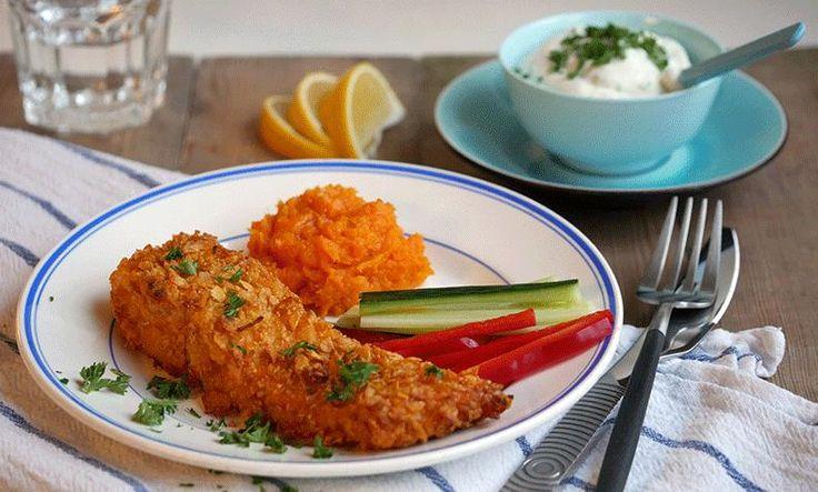 Cornflakes-panering får barna til å spise fisk   EXTRA -