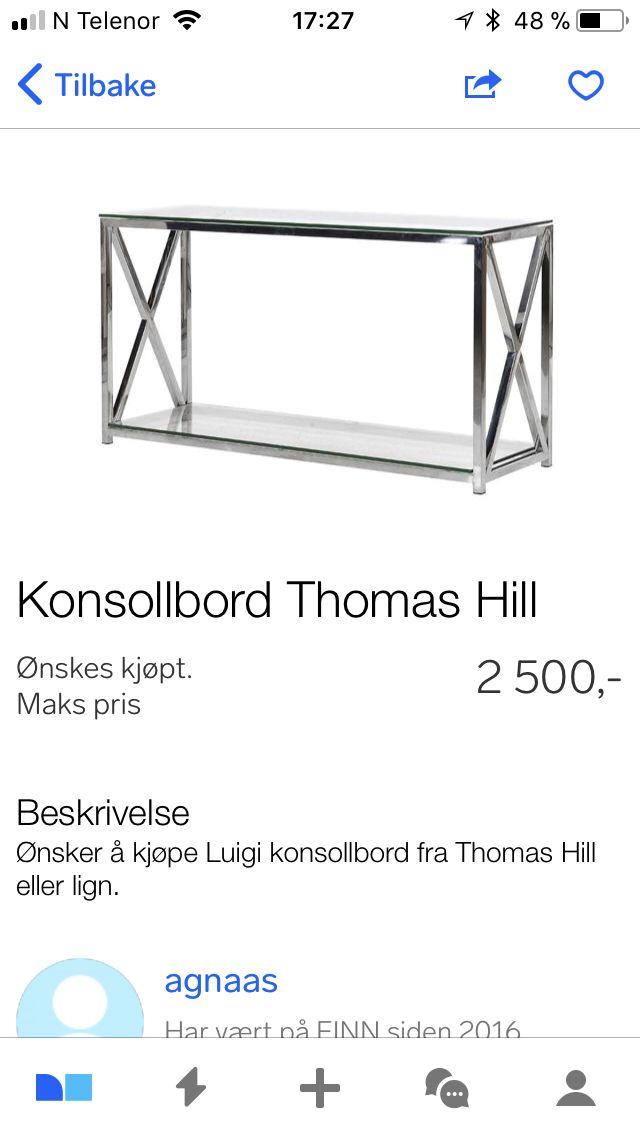 Konsollbord Thomas Hill