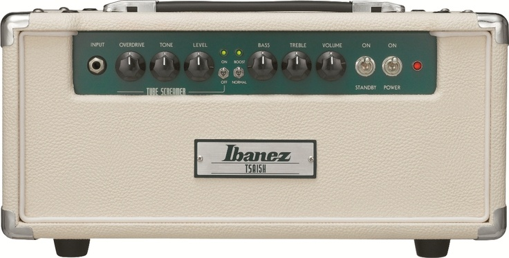 #Ibanez TSA15H: The TSA15H amp head includes genuine Tube Screamer pedal circuitry built right into the front end, with Overdrive, Tone and Level controls for getting just the right sound. Also includes amp Treble, Bass, and Volume controls.