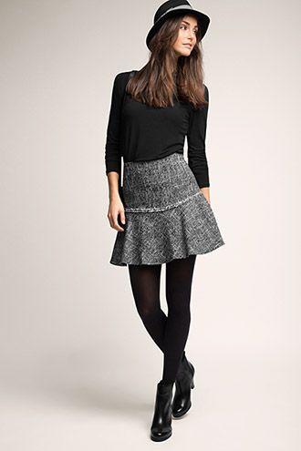 Esprit / Tweed rok in modieuze A-lijn