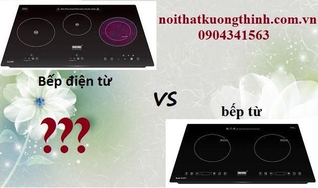 So sánh bếp điện từ với bếp từ: