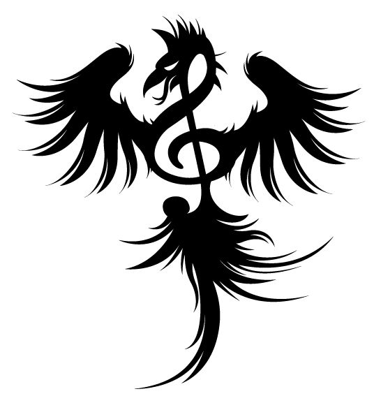 phoenix treble clef tattoo this is the one so much meaning in one small tattoo c l e f. Black Bedroom Furniture Sets. Home Design Ideas