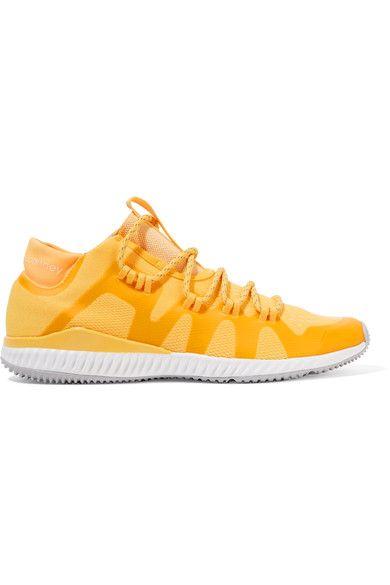 Adidas by Stella McCartney - Crazytrain Bounce Mesh Sneakers - Bright yellow - UK