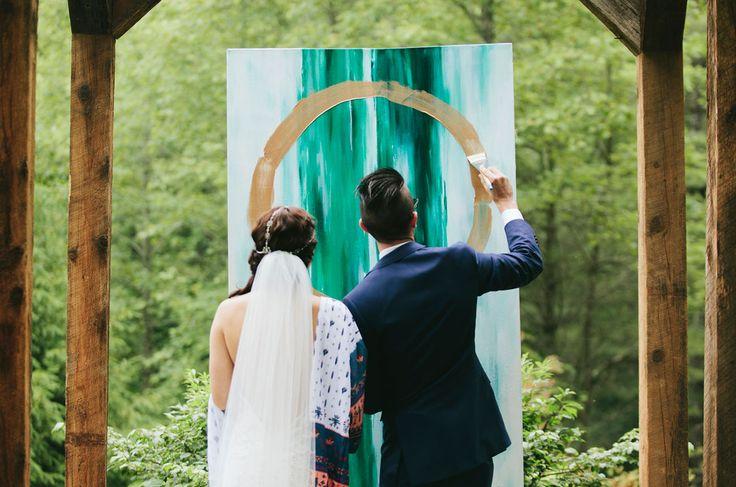 Artsy Bohemian Mountain Wedding: Sarah + Drew | Green Wedding Shoes | Weddings, Fashion, Lifestyle + Trave