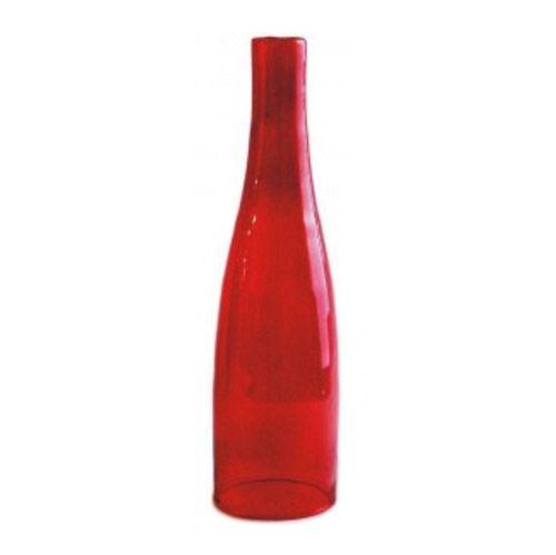 Comprar | Botella cristal rojo para fabricar lámparas | Pantallas de cristal #handmade #decoracion #lamparas #accesorioslamparas #iluminacion