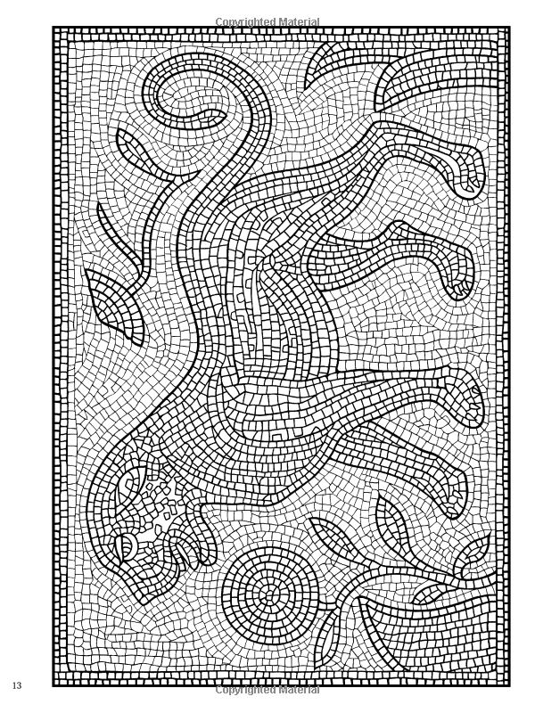 mosaic masterpiece coloring pages - photo#13