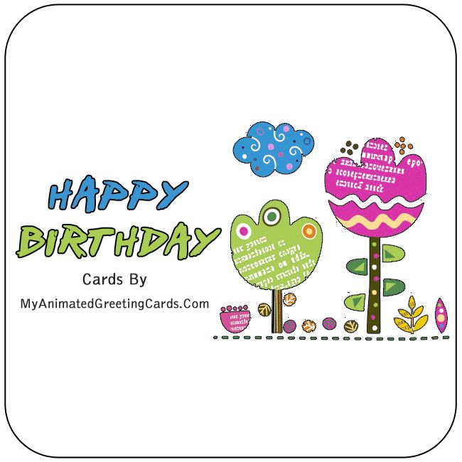 Happy Birthday Animated Birthday Cards By My Animated Greeting Cards | myanimatedgreetingcards.com #HappyBirthday #BirthdayCards