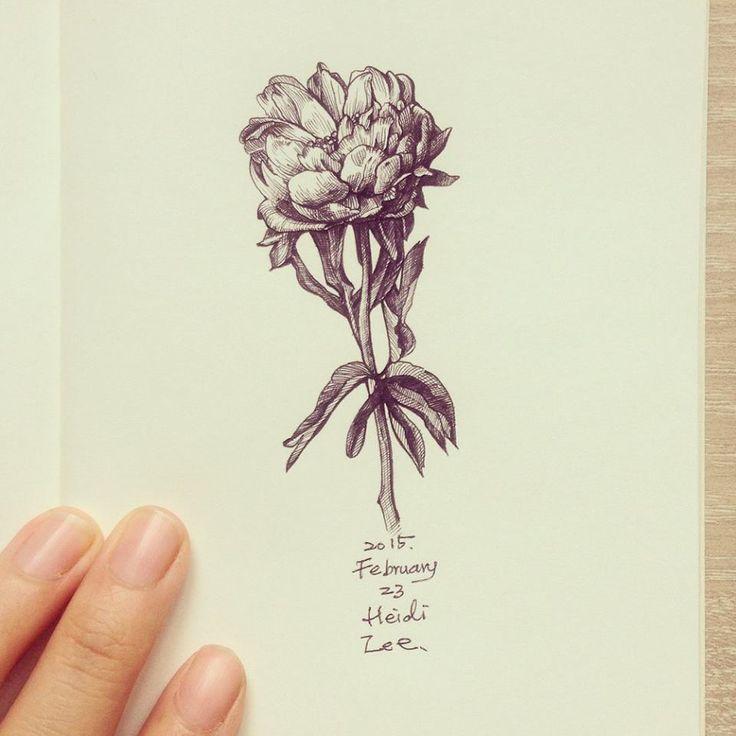 flower doodle #flower #ink #doodle #illustration
