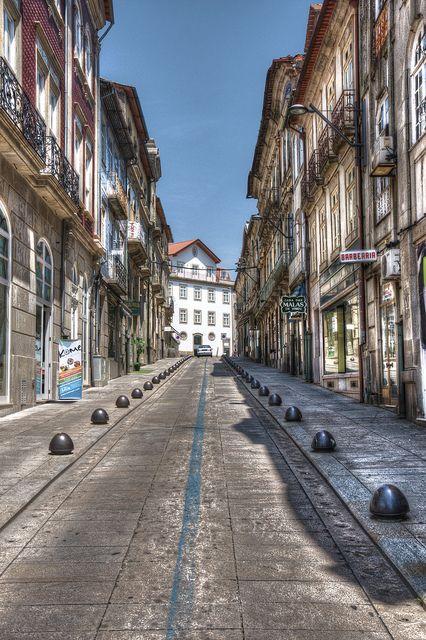 Main Street, Viseu, Portugal