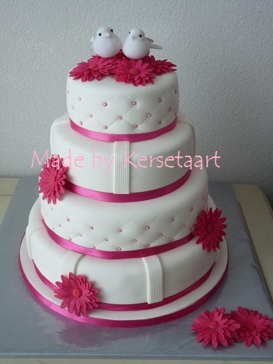 Bruidstaart Gerbera taart