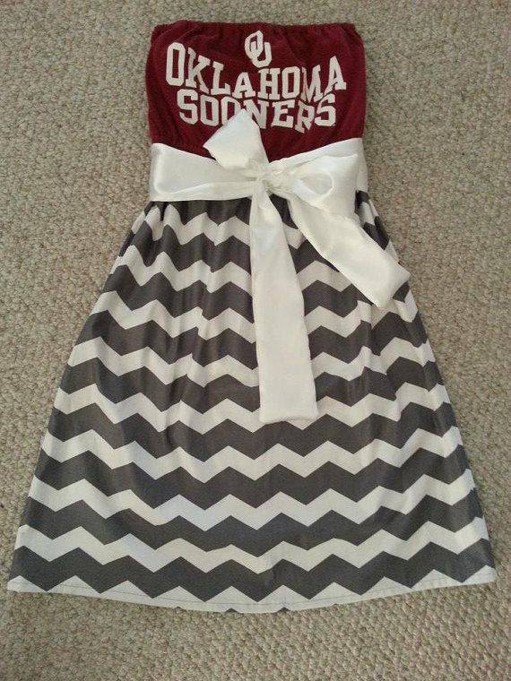 OU Gameday dress. Would be cute to make an NMSU one, even though we don't do this in the southwest. @Jamie Wise Judd