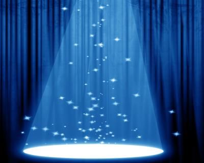 Blue stage lighting ppt backgrounds