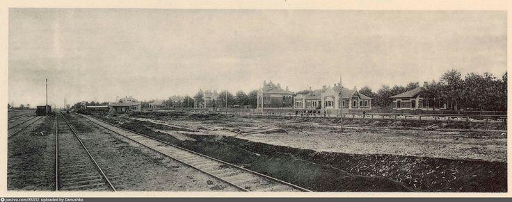 Общий вид станции Лихоборы, 1908