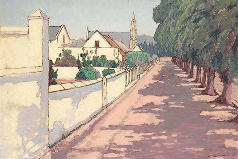 Jacob Hendrick PIERNEEF | Jacob Hendrik Pierneef, Scene of a sleepy town in the Cape. It is ...