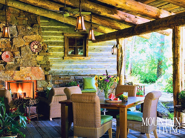 Adding a fireplace or fire pit to a porch lends a cozy vibe and allows you to enjoy the space well past sundown. Photo by Heidi Long.