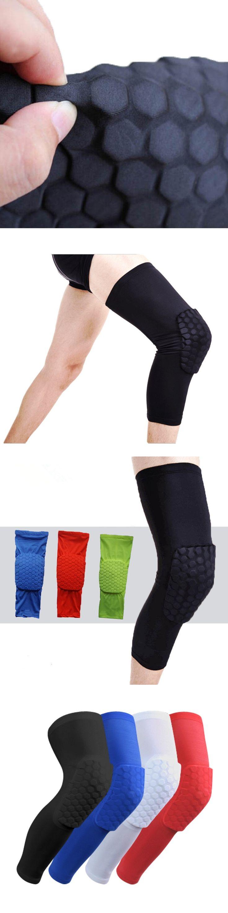 100% Top Famous Brand Basketball Leg Sleeve Breathable Sport Safety Kneepad Honeycomb Pad Bumper Barce Kneelet Protector 2PCS