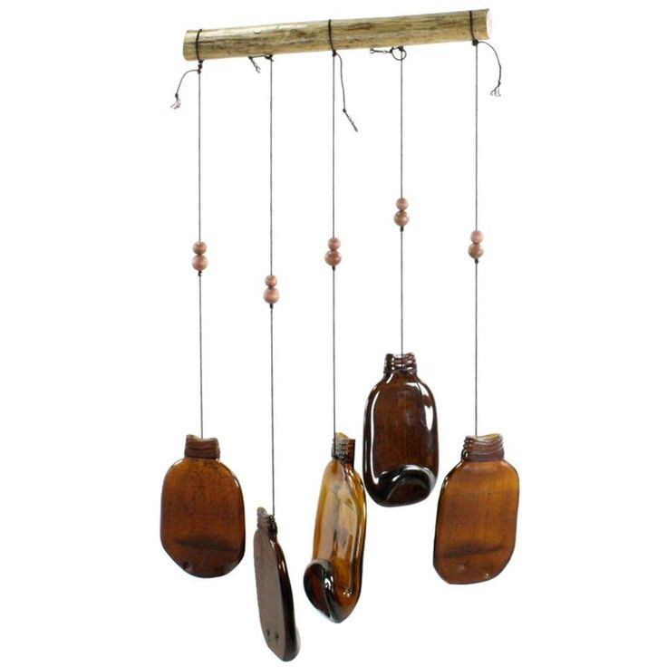 17 best images about wind chimes on pinterest for Glass bottle wind chimes