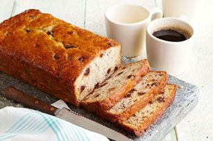 Chocolate Chip-Banana Bread recipe - You know what to do when you have a few really ripe bananas! Whip up this moist, tender banana bread studded with chocolate morsels.