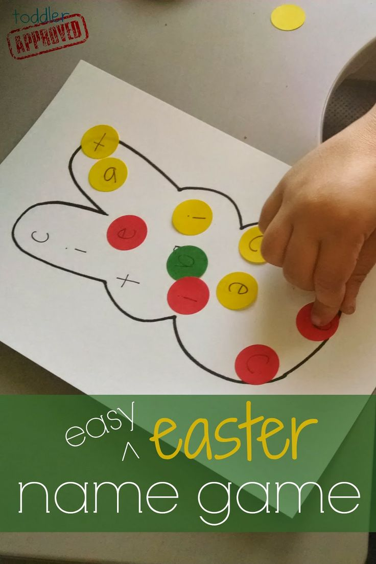 Toddler Approved!: Easy Easter Name Game