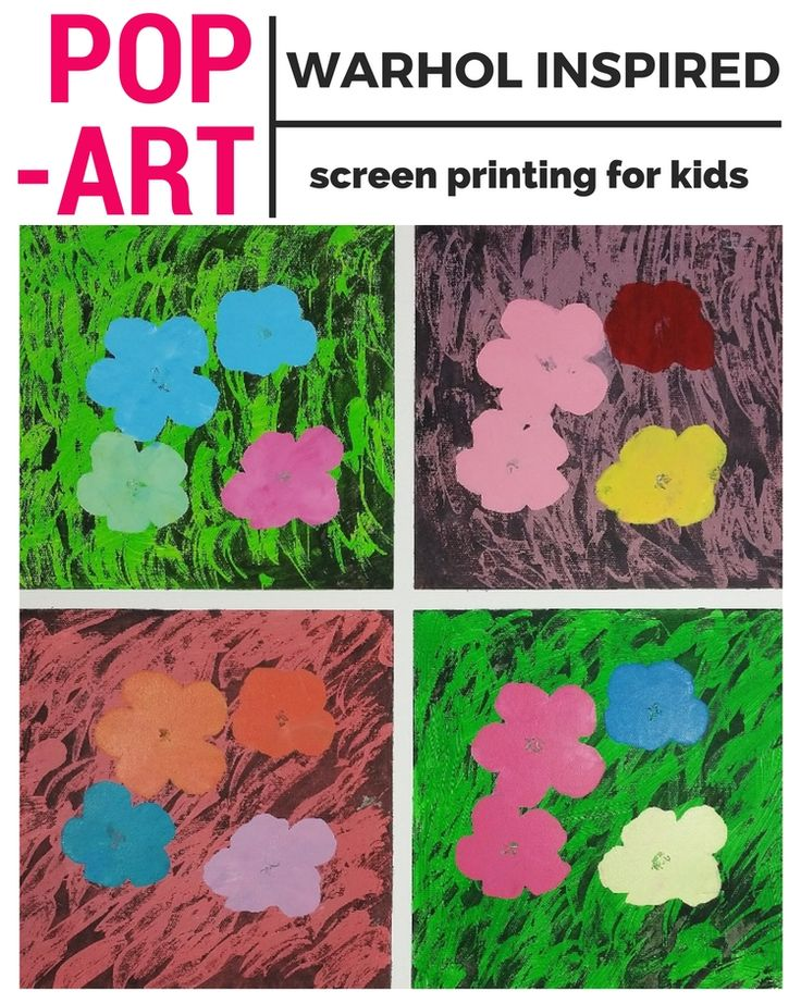 Here's a fantastic project to create fun pop art for kids: a Warhol inspired painting!