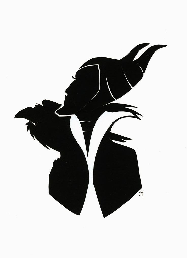 maleficent silhouette - Google Search