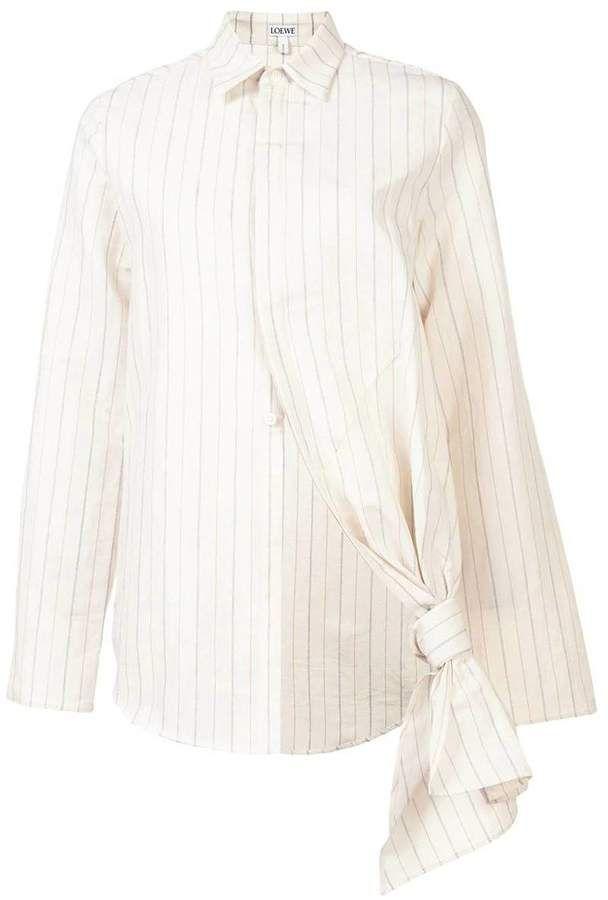 7bc07d650aa White Knot Shirt #classic#collar#vertical   Korean Fashion Casual in ...