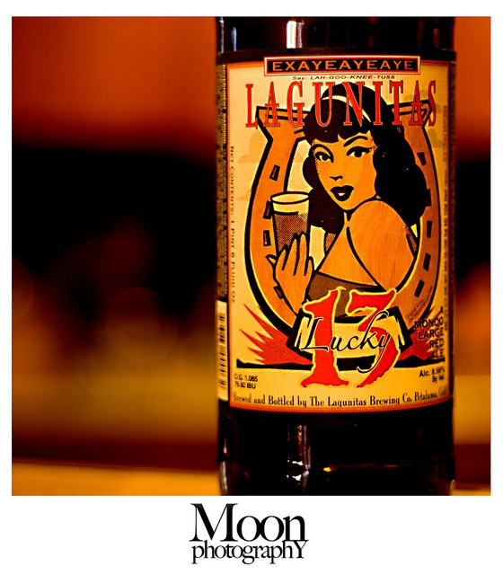 Classic rockabilly-inspired Lagunitas Lucky 13 Mondo Large Red Ale.