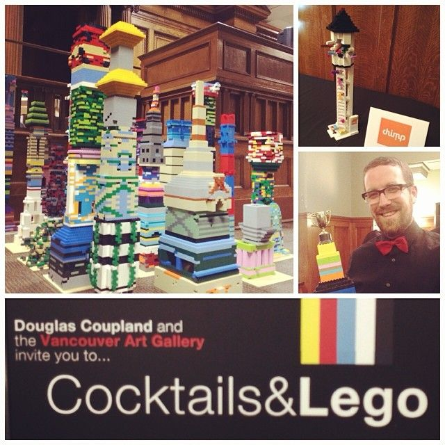 Good times with the @Chimp team at Cocktails & Lego #toweringambition