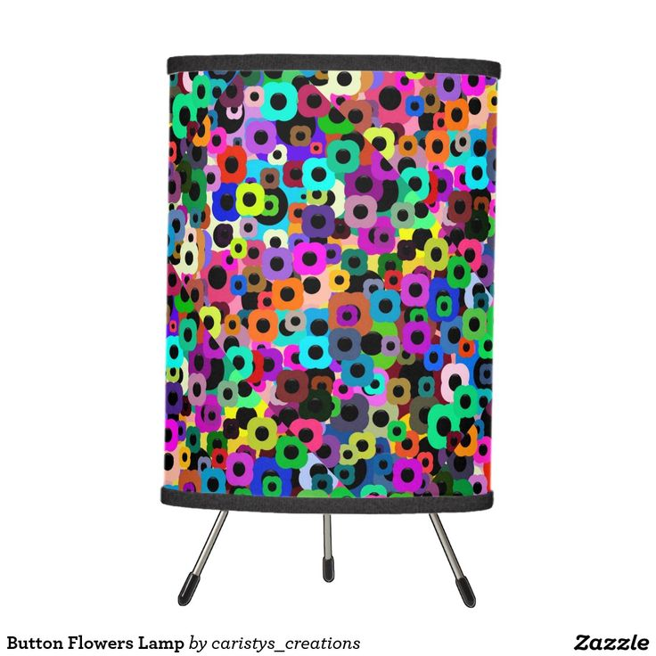 Button Flowers Lamp