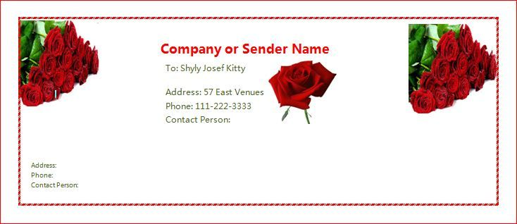 Free Rose Letter Envelope Template at wordtemplatesbundle - letter envelope template