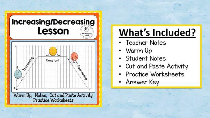 Increasing decreasing intervals of functions lesson
