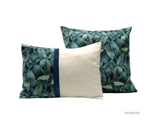 Pillow Cover.Ever green print pillow. Nature pillow  12 x 16