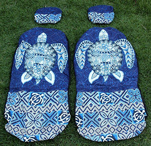 Amazon.com: Hawaiian Car Seat Covers with Separated Headrest, Blue Big Turtle, Set of 2 Front Bucket Seat Covers, Made in Hawaii: Automotive