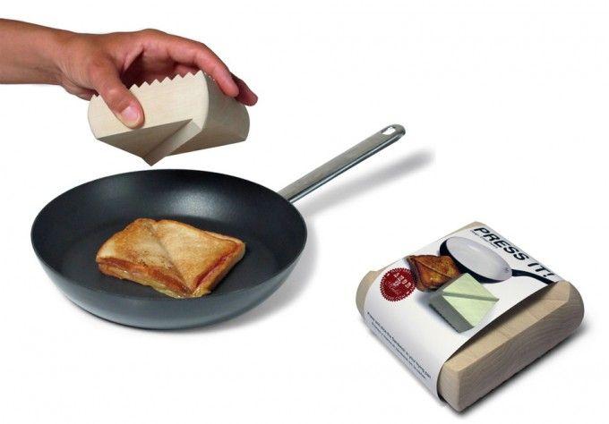 Prensa y cortador de sándwich