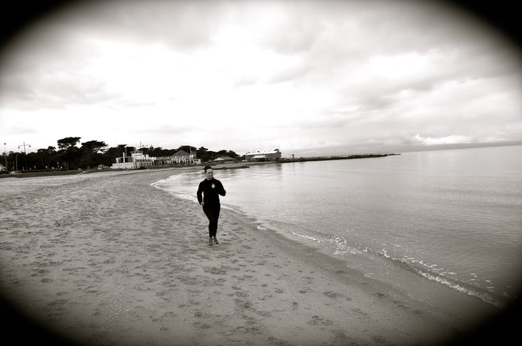 Senior Sales Executive, Dee Gibson is captured at Williamstown Beach.