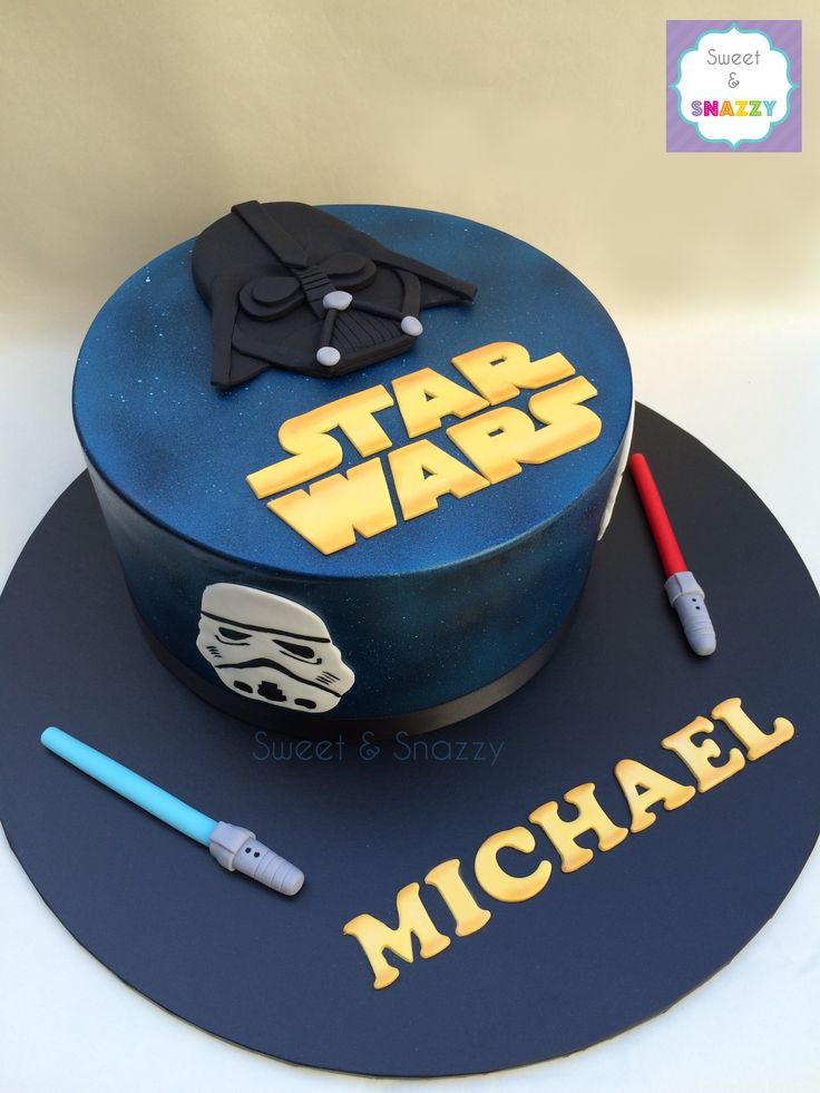 Star Wars Cake - Darth Vader Cake - Stormtroopers by Sweet & Snazzy https://www.facebook.com/sweetandsnazzy