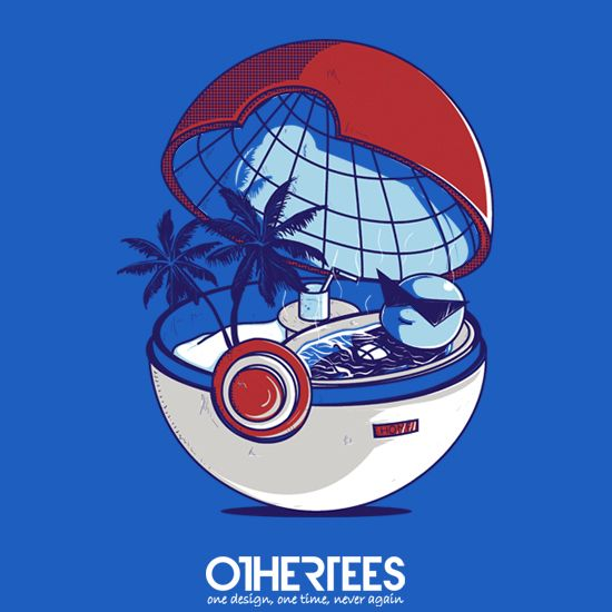 Blue Pokehouse by Donnie Shirt on sale until 16 April on http://othertees.com #pokemon Weekly free tee winners are now live at http://www.othertees.com/othertees/win_free_tees/