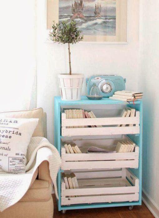 Blog Tela y Lana: Decorar con cajas de madera II