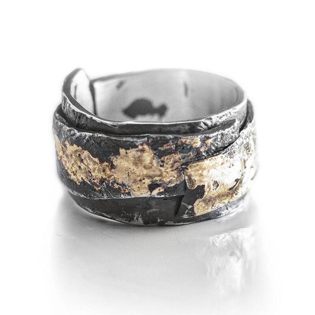 Ring/Dark matter series Silver,gold.  #shulejewelry #accessories #silver #gold #darkmatter #texturedring #jewelry #mensjewelry #customring #sterlingsilver
