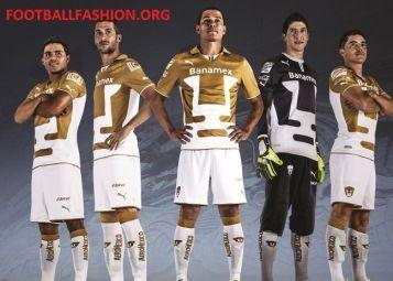 Pumas de la UNAM 2013/14 PUMA Home, Away and Third Jerseys