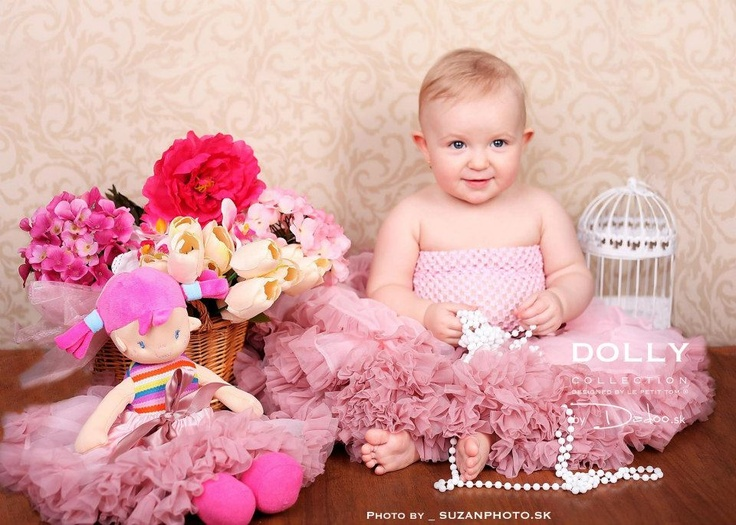 lovely little DOLLY princess wearing Isabella pink petti skirt - more on www.dadoo.sk