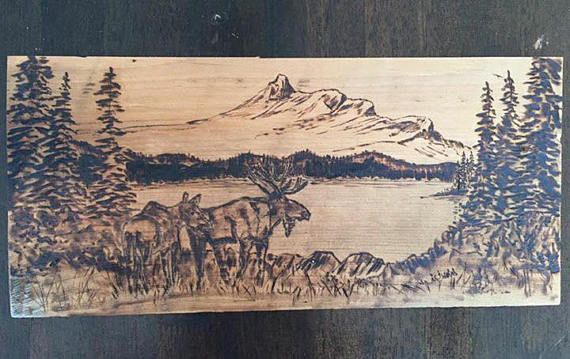 Wood+burned+Canadian+Wilderness+Pyrography+art